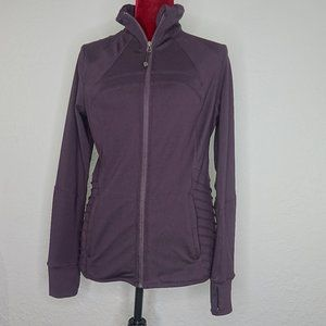 Tangerine Yoga Jacket Zip Up Eggplant Medium Long